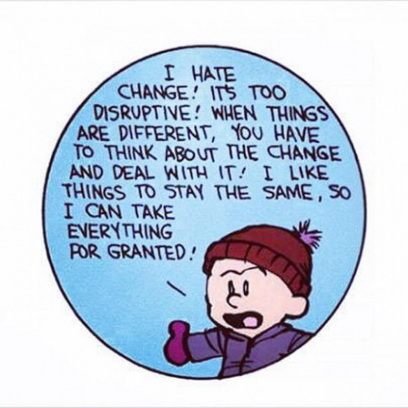 Calvin and Hobbes on Change